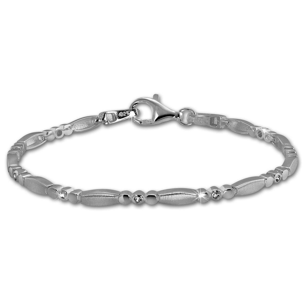 SilberDream Armband Elegant Zirkonia weiß 925er Silber 18,7cm Damen SDA458W