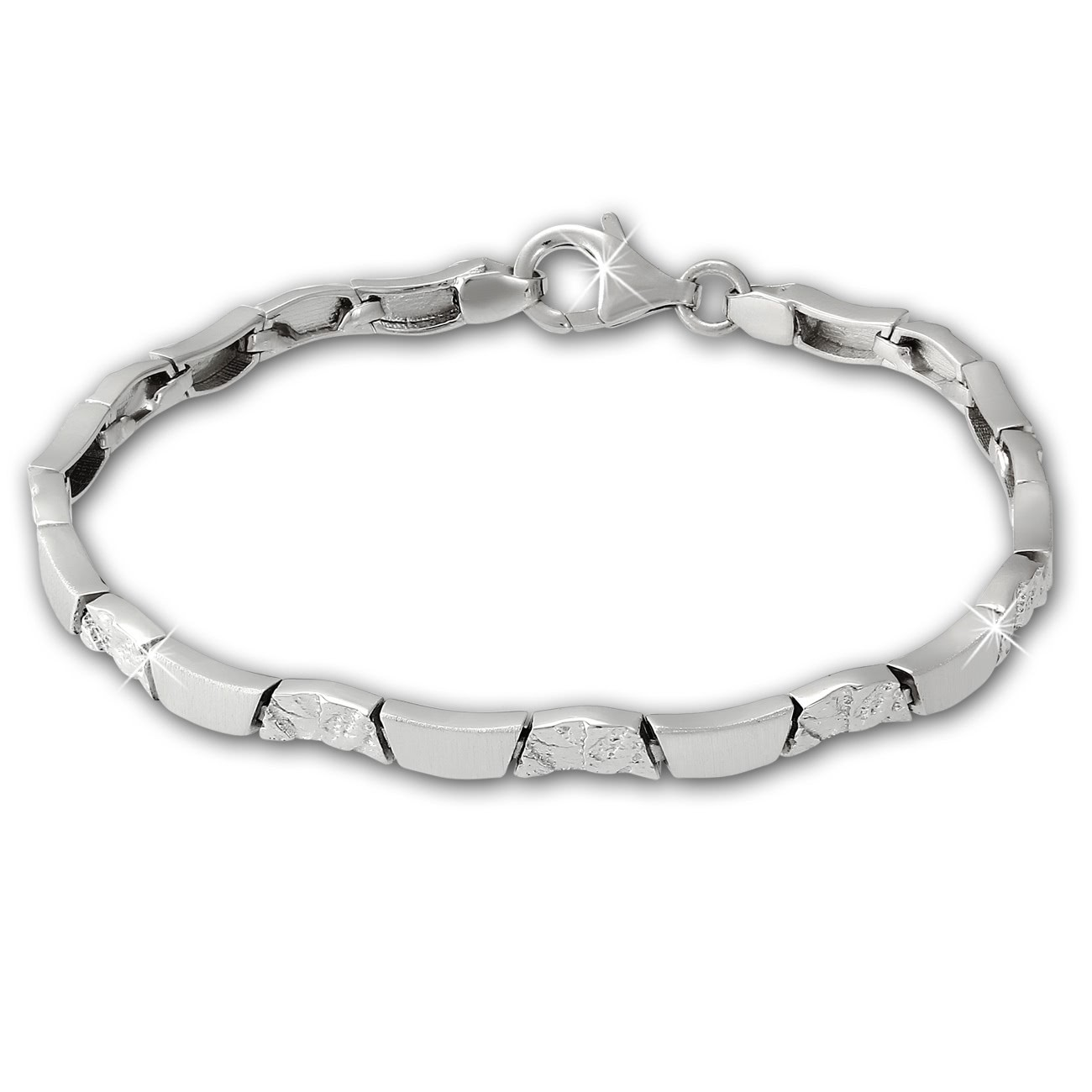 SilberDream Armband Wave 925 Sterling Silber 18,5cm Silberarmband SDA477J