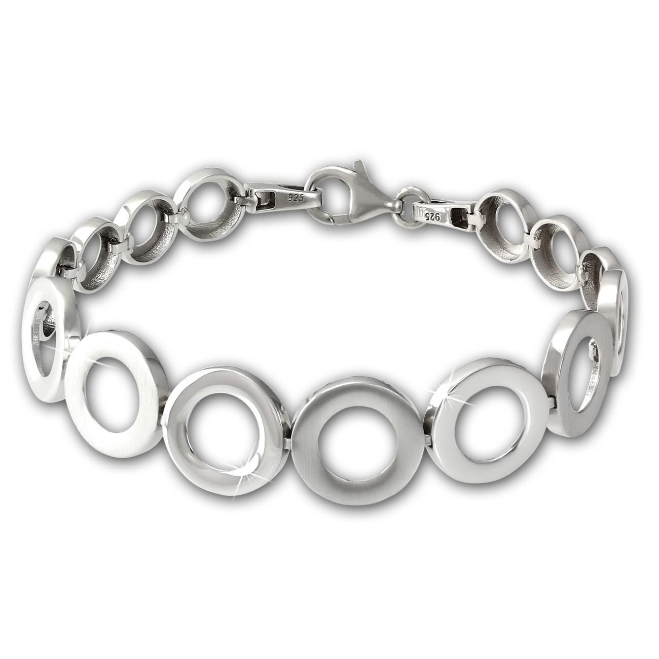 SilberDream Armband Kreise 925 Sterling Silber 19,5cm Silberarmband SDA478J