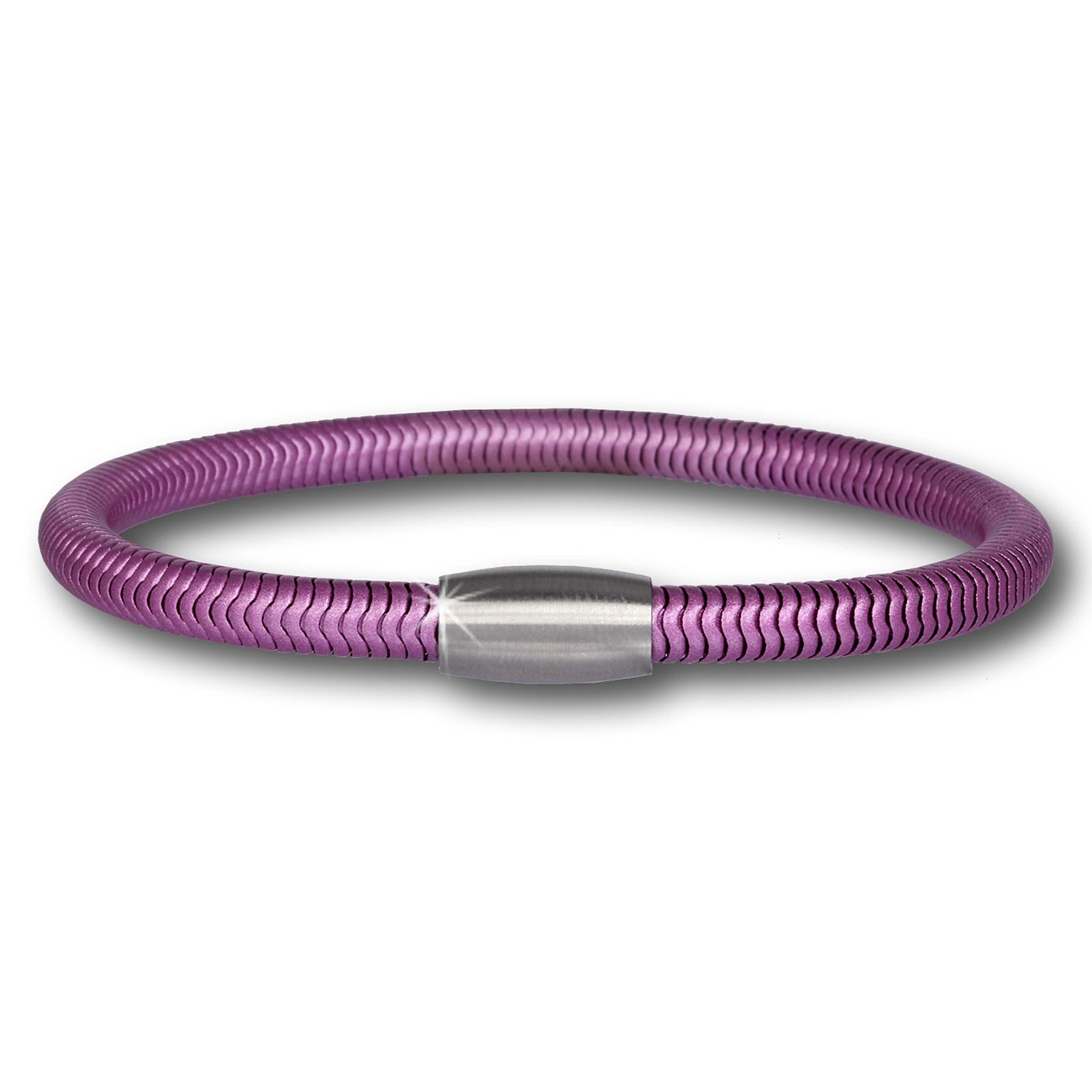 SilberDream Damen Armband Schlange flieder mit Stahlverschluss SDA500A