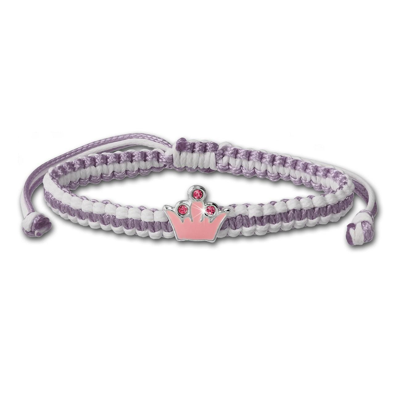Kinder Armband pink Krone Kinderschmuck aus 925er Silber TW SDA8000P