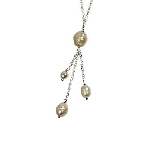 SilberDream Perlen Collier ws Kette 925 Silber SDH014W
