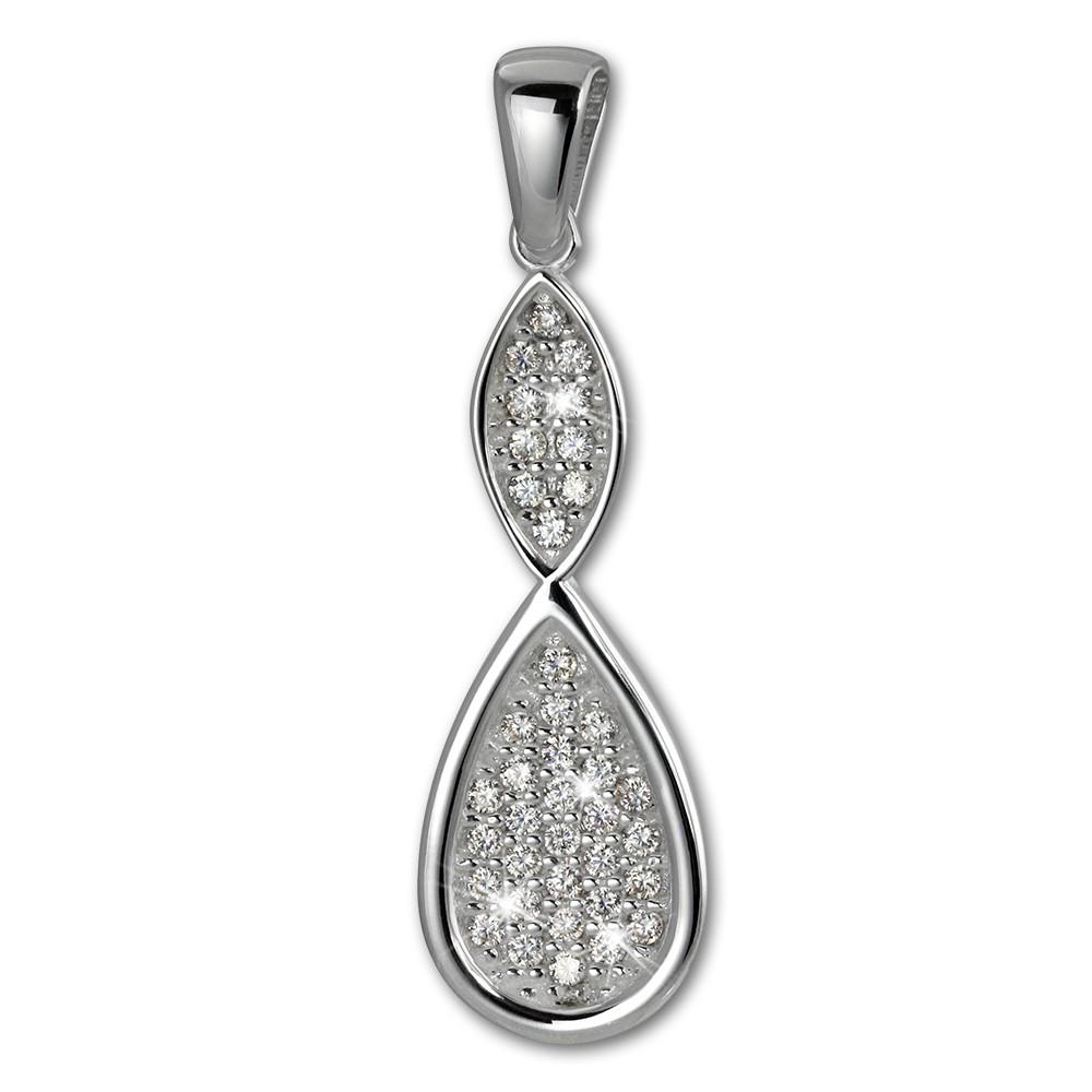SilberDream Ketten Anhänger Unendlich Zirkonia weiß 925 Silber SDH409W