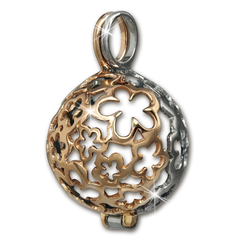 SilberDream Elfenrufer, Feenkugel Ketten Anhänger Silber rose vergoldet SDH8100E