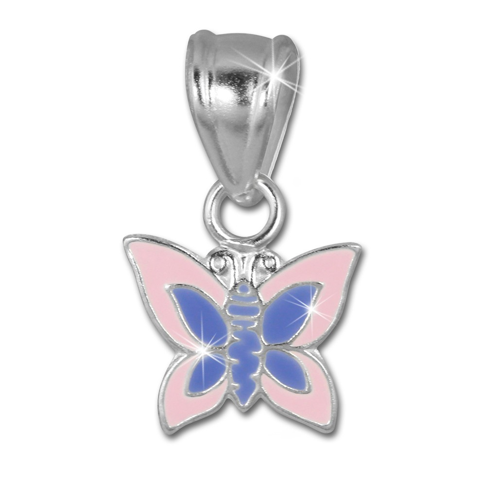 SilberDream Kettenanhänger Schmetterling rosa für Kinder 925er Silber SDH8102A
