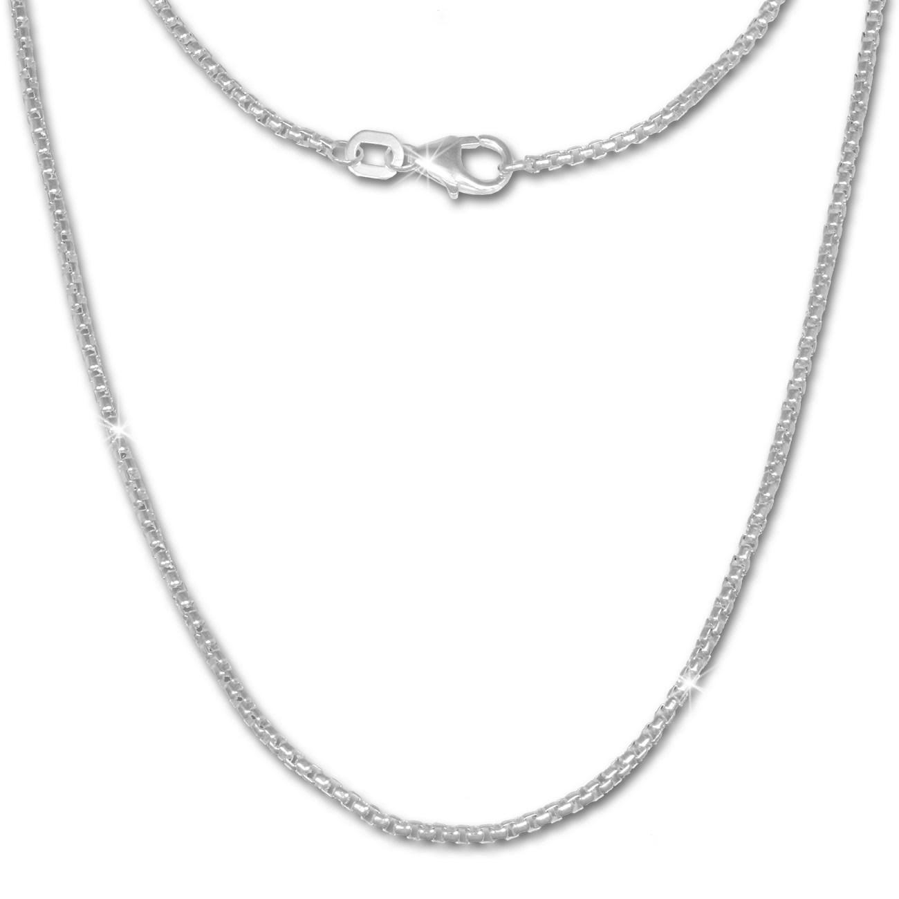 SilberDream Veneziakette rund 925 Silber Halskette 70cm Kette SDK20770