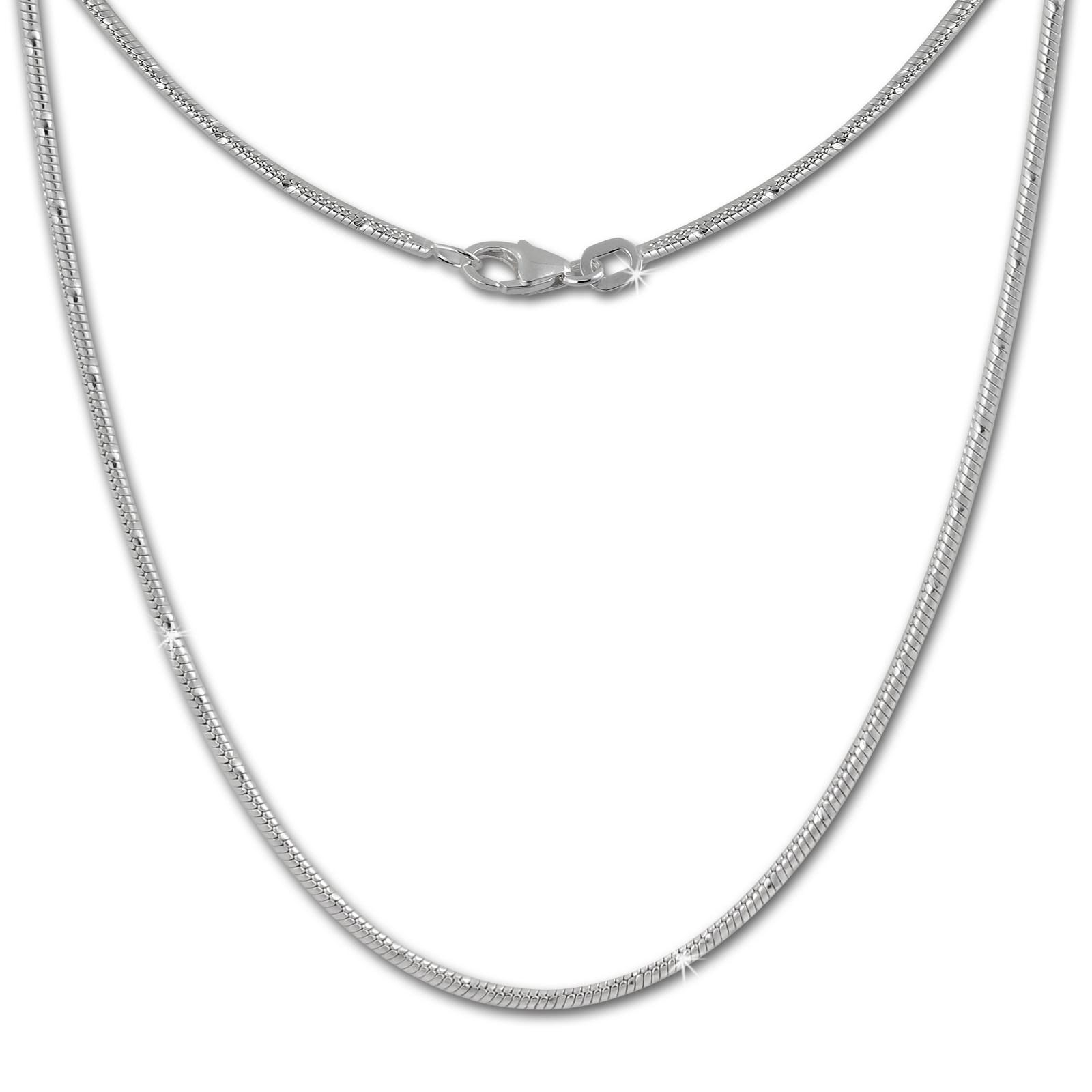 SilberDream Schlangenkette 925er Silber Halskette 70cm Kette SDK21070