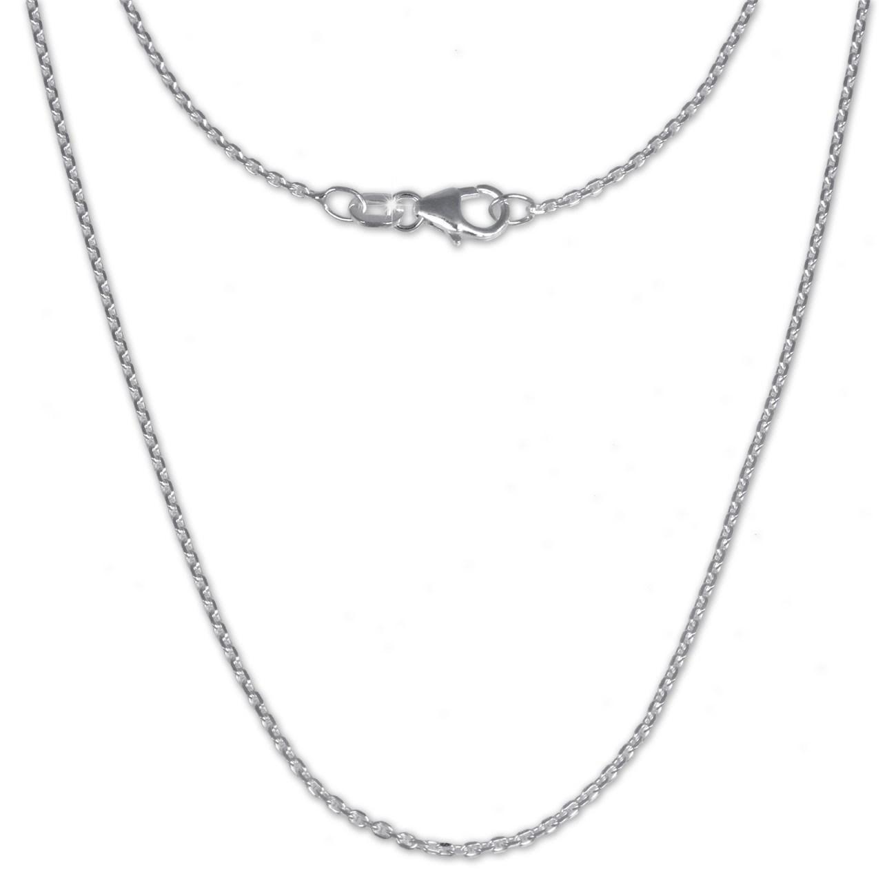 SilberDream Ankerkette fein 925er Silber Halskette 70cm Kette SDK21170