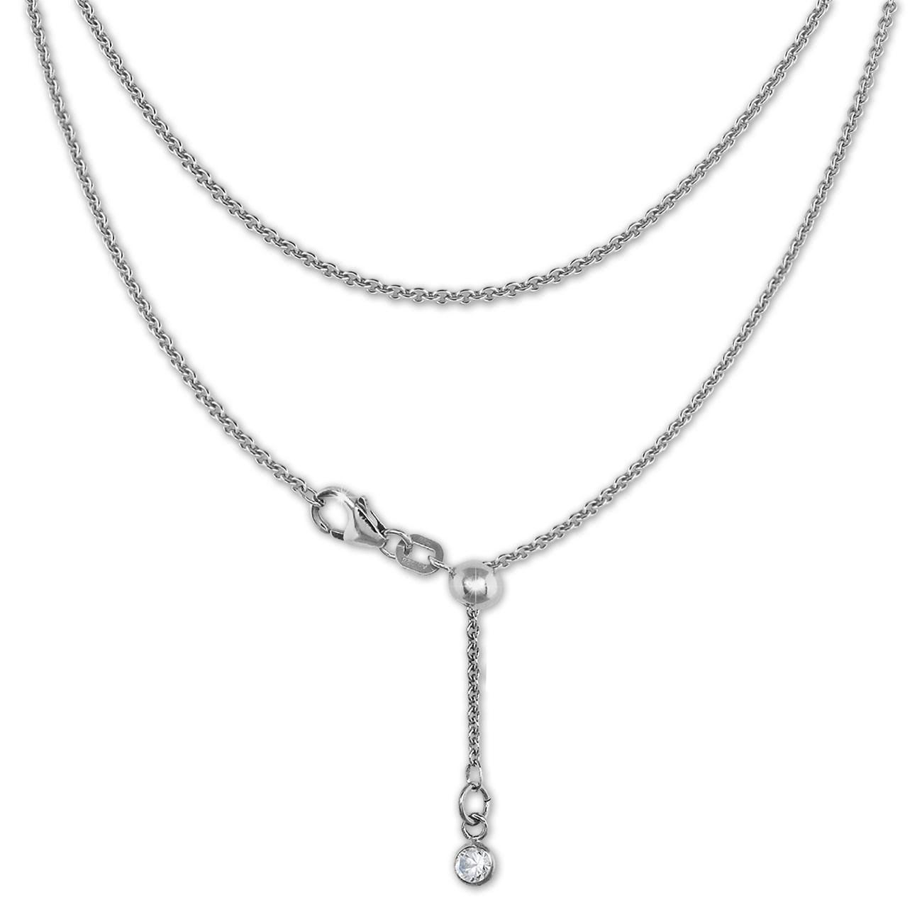 SilberDream Collier Kette Zirkonia 925er Sterling Silber Damen 45cm SDK22545J