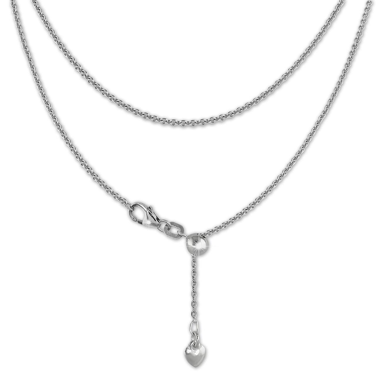 SilberDream Collier Kette Herz 925er Sterling Silber Damen 45cm SDK22645J