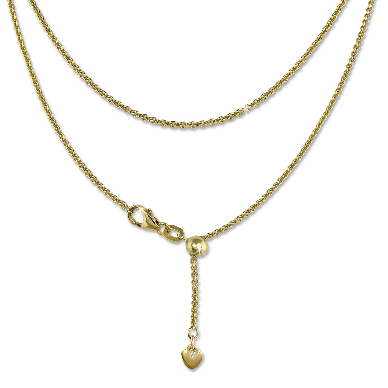 SilberDream Collier Kette Herz vergoldet 925er Silber Damen 45cm SDK22645Y
