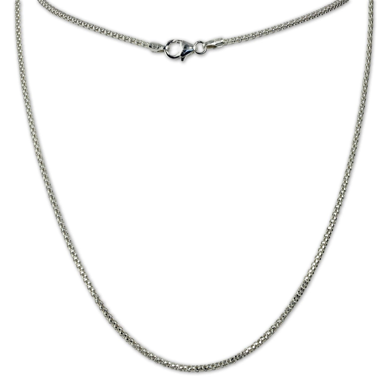 SilberDream Collier Himbeerkette 925er Silber Halskette 45cm Kette SDK22745J
