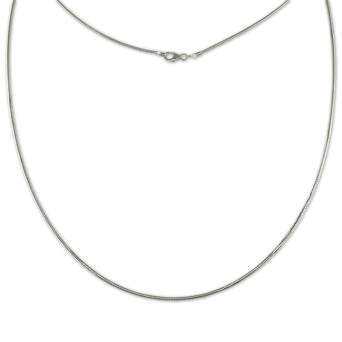SilberDream Omega Halskette 925er Silber Damen Halsreif 45cm SDK22845J