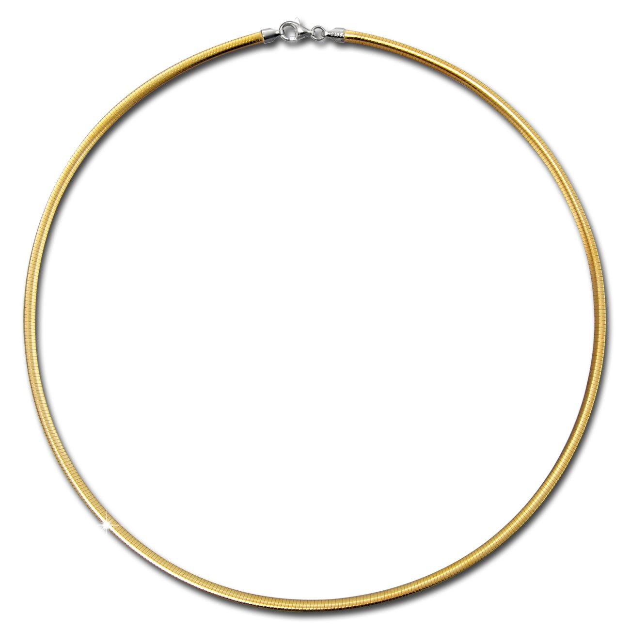 SilberDream Collier Kette Muster vergoldet und Silber 925er 45cm SDK22945T