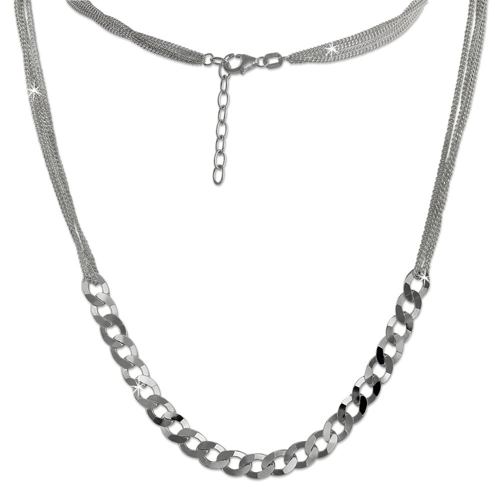 SilberDream Collier Kette Fantasie 925 Sterling Silber Damen 45cm SDK23045J
