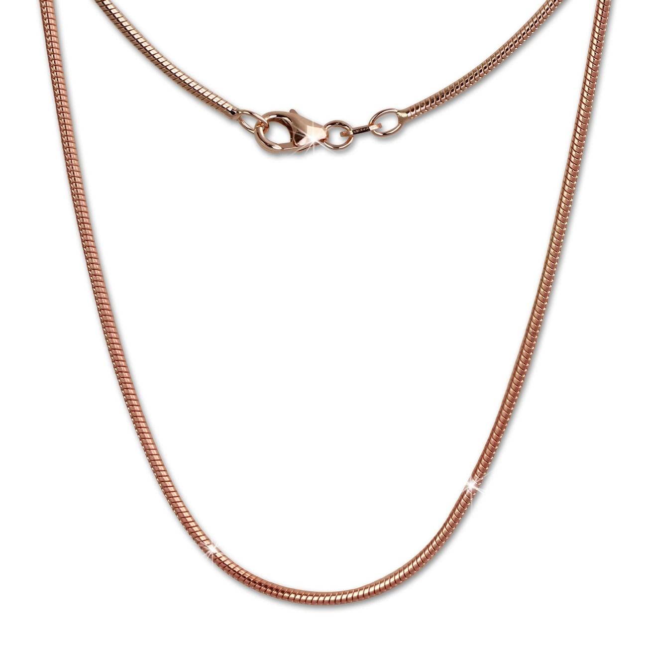 SilberDream Schlangenkette rosevergoldet 925er Silber 70cm Damen Kette SDK27370E