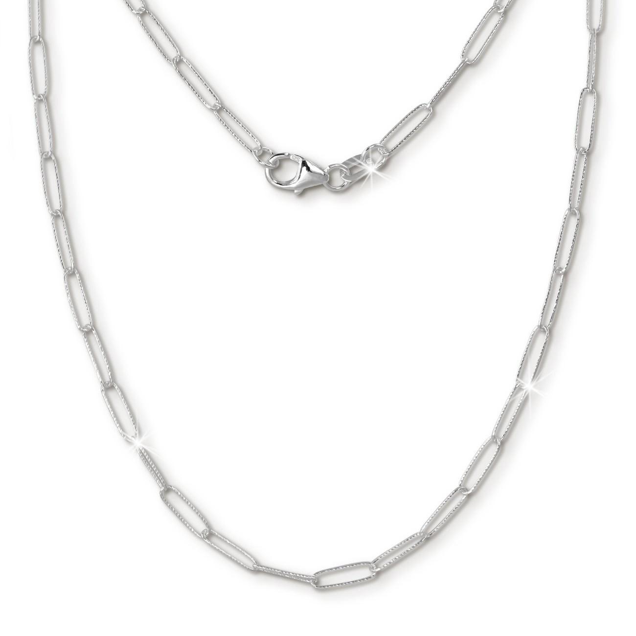 SilberDream Anker weit Kette 925 Sterling Silber Damen 45cm SDK28045J