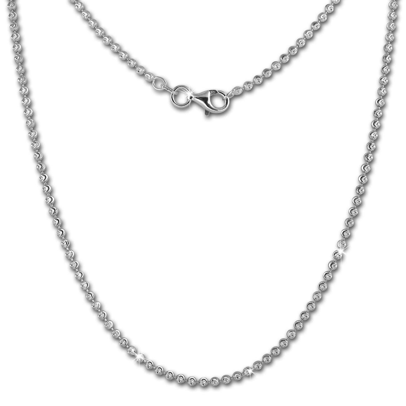 SilberDream Kette Kugel diamantiert 925 Silber 45cm Damen Kette SDK28545J