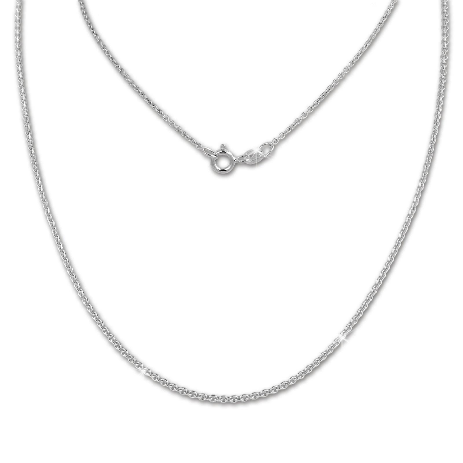 SilberDream Kette Anker rund 925 Sterling Silber 45cm Damen Halskette SDK28845J
