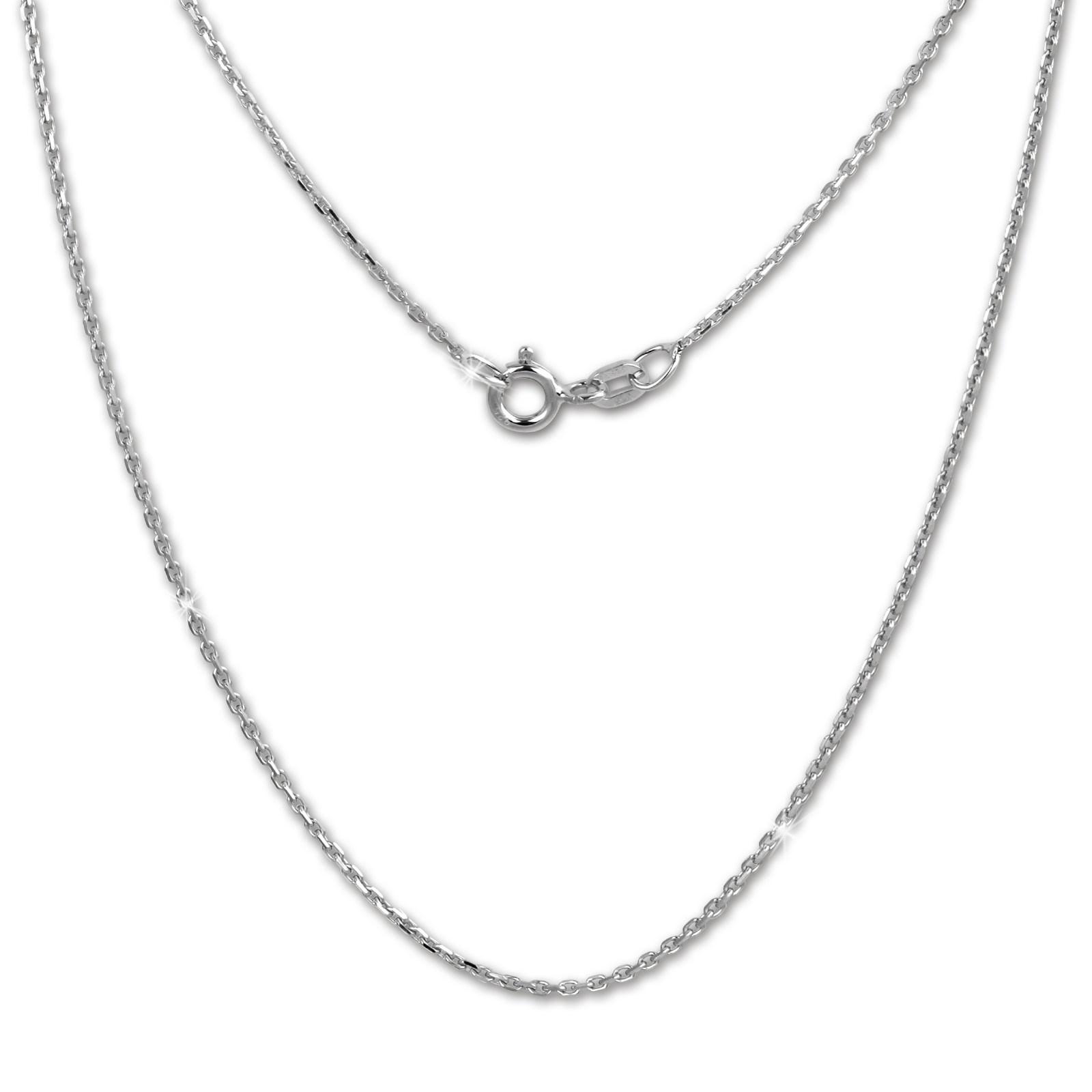 SilberDream Kette Anker diamantiert 925er Silber 50cm Damen Halskette SDK28950J
