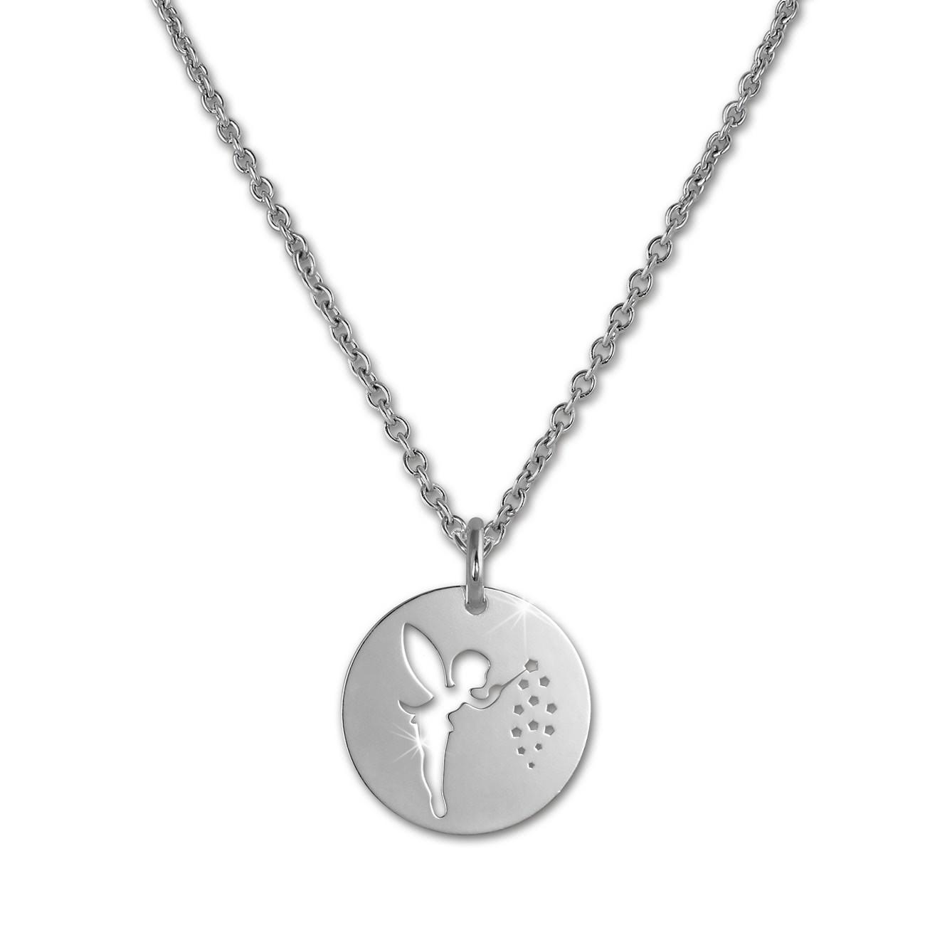 SilberDream Halskette mit Anhänger Zaubernde Fee 925er Silber Kette SDK29442J