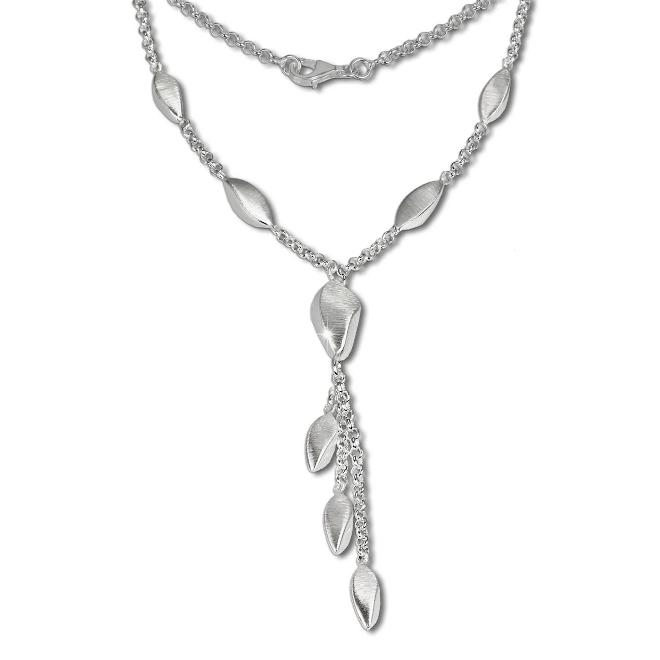 SilberDream Collier Kette Tropfen 925 Silber 44,5cm Halskette SDK414