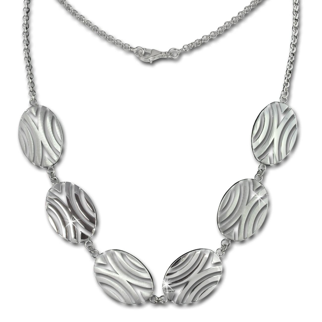SilberDream Collier Afrika 925 Sterling Silber 45cm Halskette SDK417