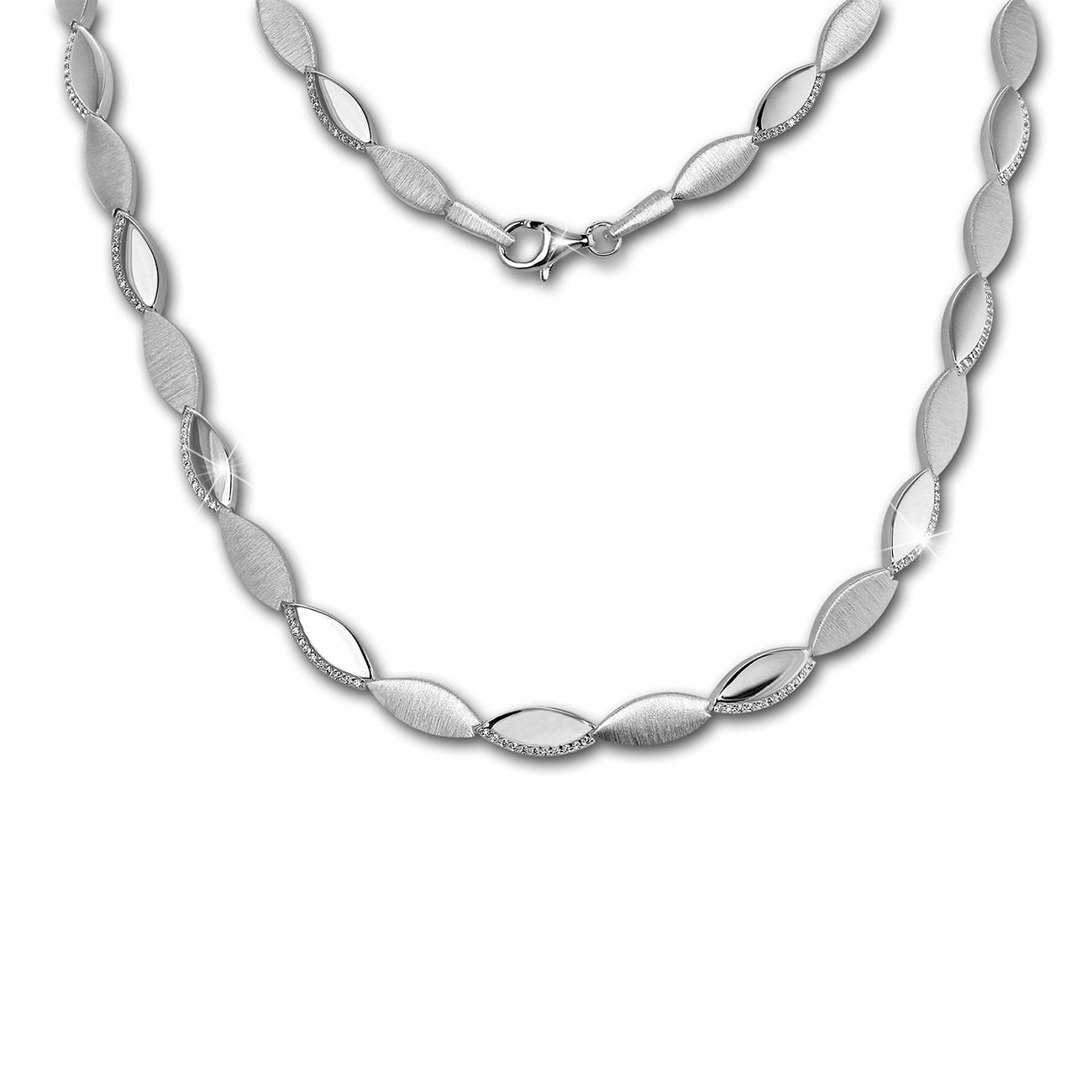 SilberDream Collier Elegance Zirkonia weiß 925er Silber 44,5cm Halskette SDK453W