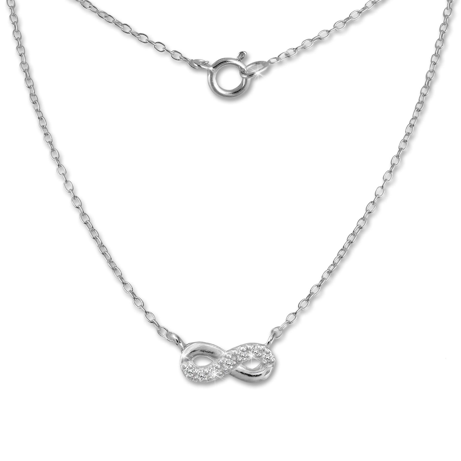 SilberDream Kette Unendlich 925er Sterling Silber 45cm Halskette SDK8010J