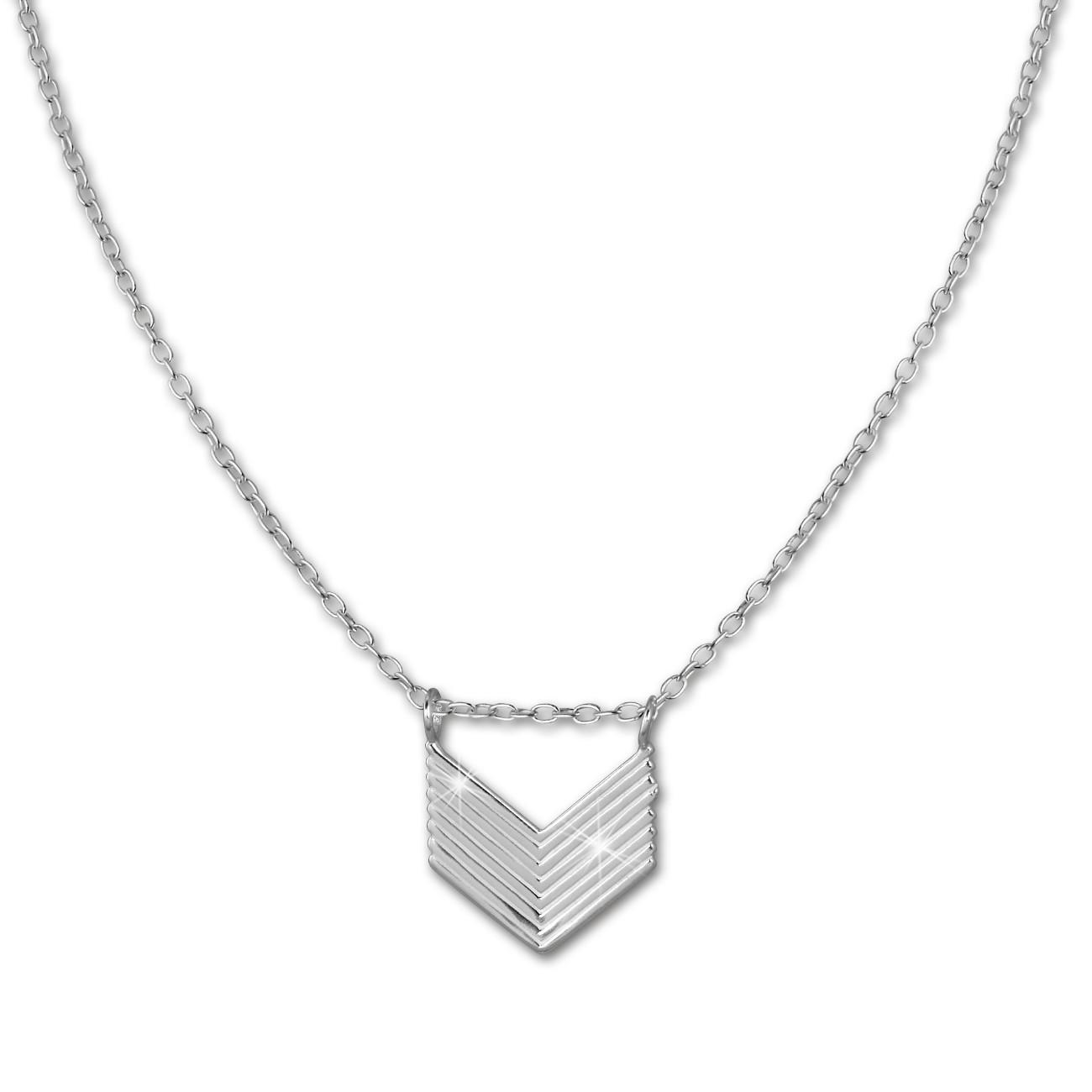 SilberDream Kette Pfeil 925er Sterling Silber 45cm Damen Halskette SDK8012J