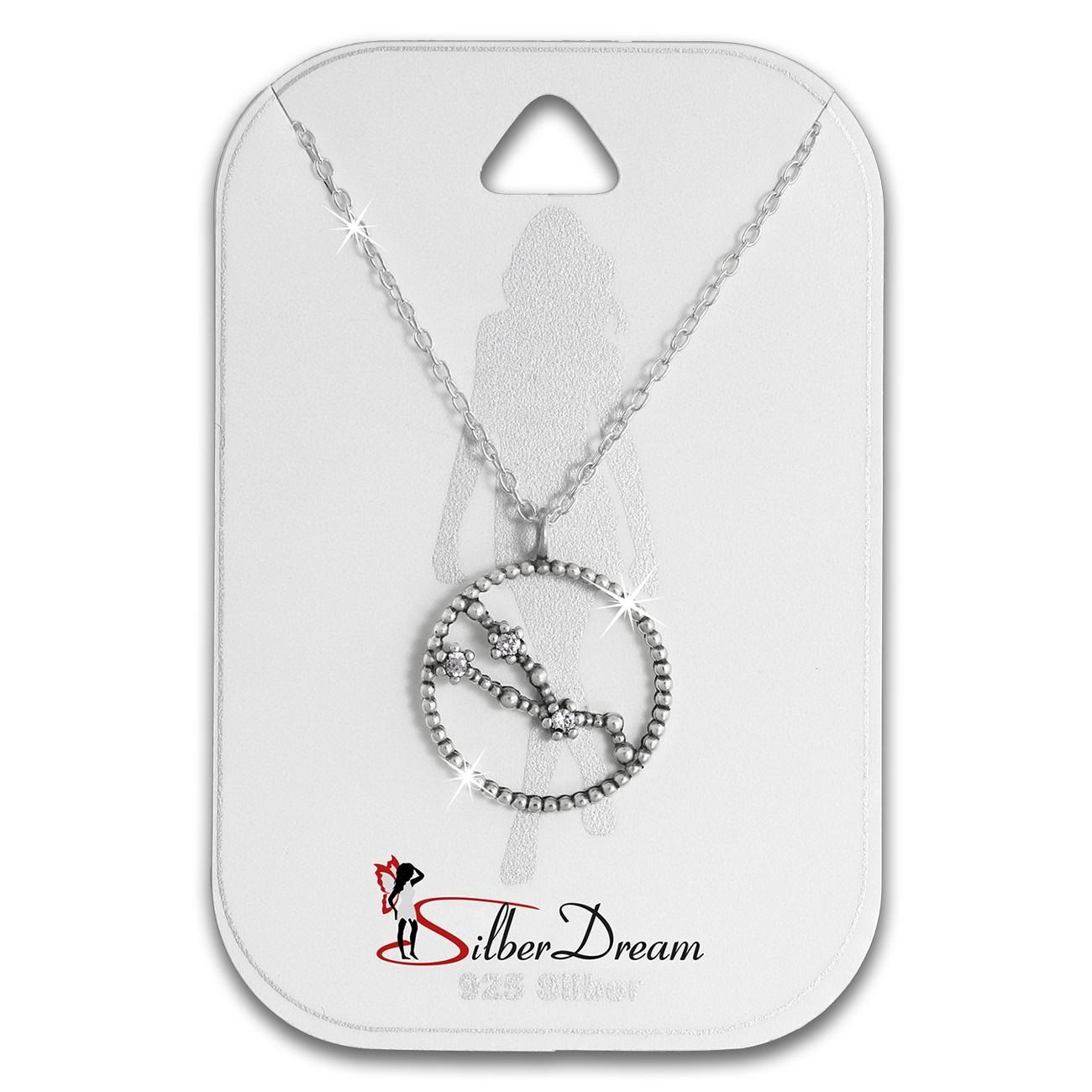 SilberDream Halskette Sternzeichen Stier 925 Silber 45cm Damen Kette SDK8505W