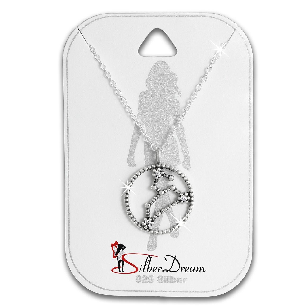 SilberDream Halskette Sternzeichen Löwe 925 Silber 45cm Damen Kette SDK8508W