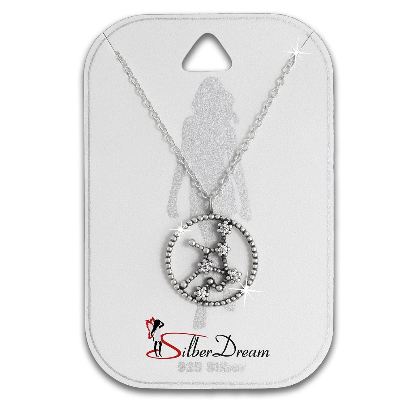 SilberDream Halskette Sternzeichen Jungfrau 925 Silber 45cm Damen Kette SDK8509W