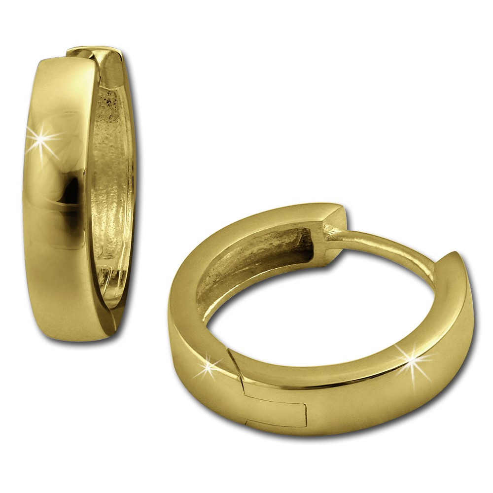 SilberDream Creole vergoldet Ohrring 925 Sterling Silber Schmuck SDO0017Y
