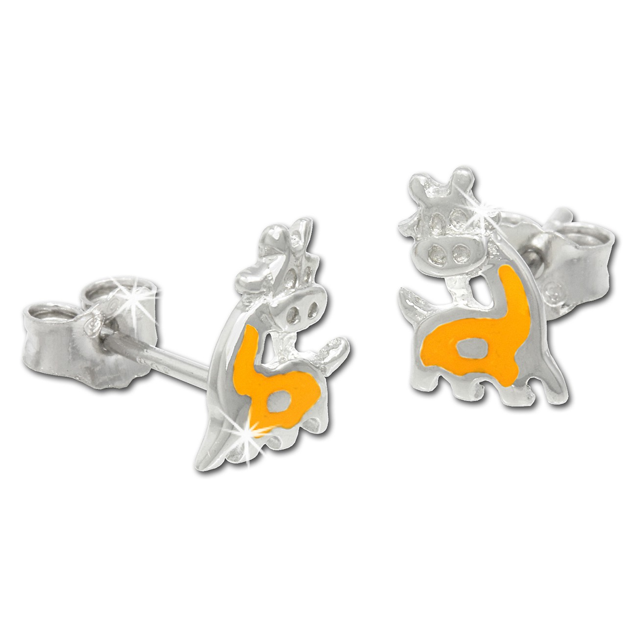 Kinder Ohrring Giraffe gelb Silber Ohrstecker Kinderschmuck TW SDO205Y