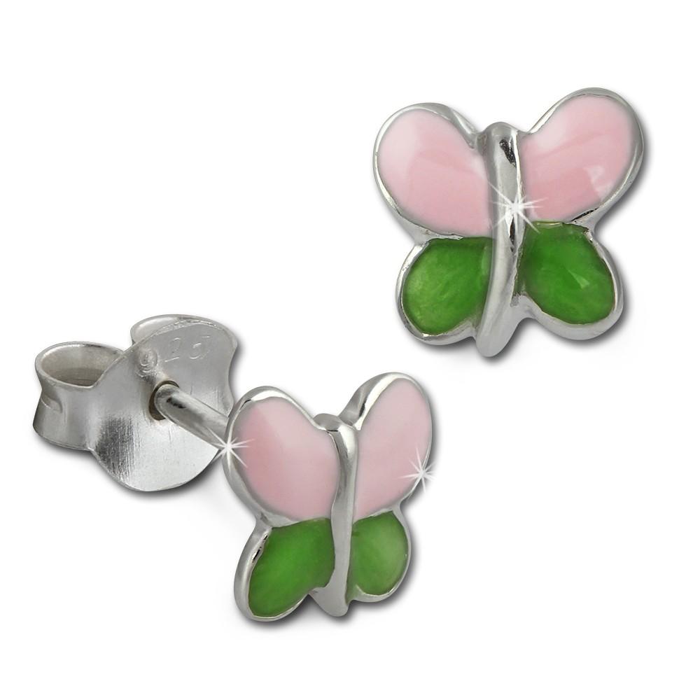 Kinder Ohrring Schmetterling Silber Ohrstecker Kinderschmuck TW SDO215A
