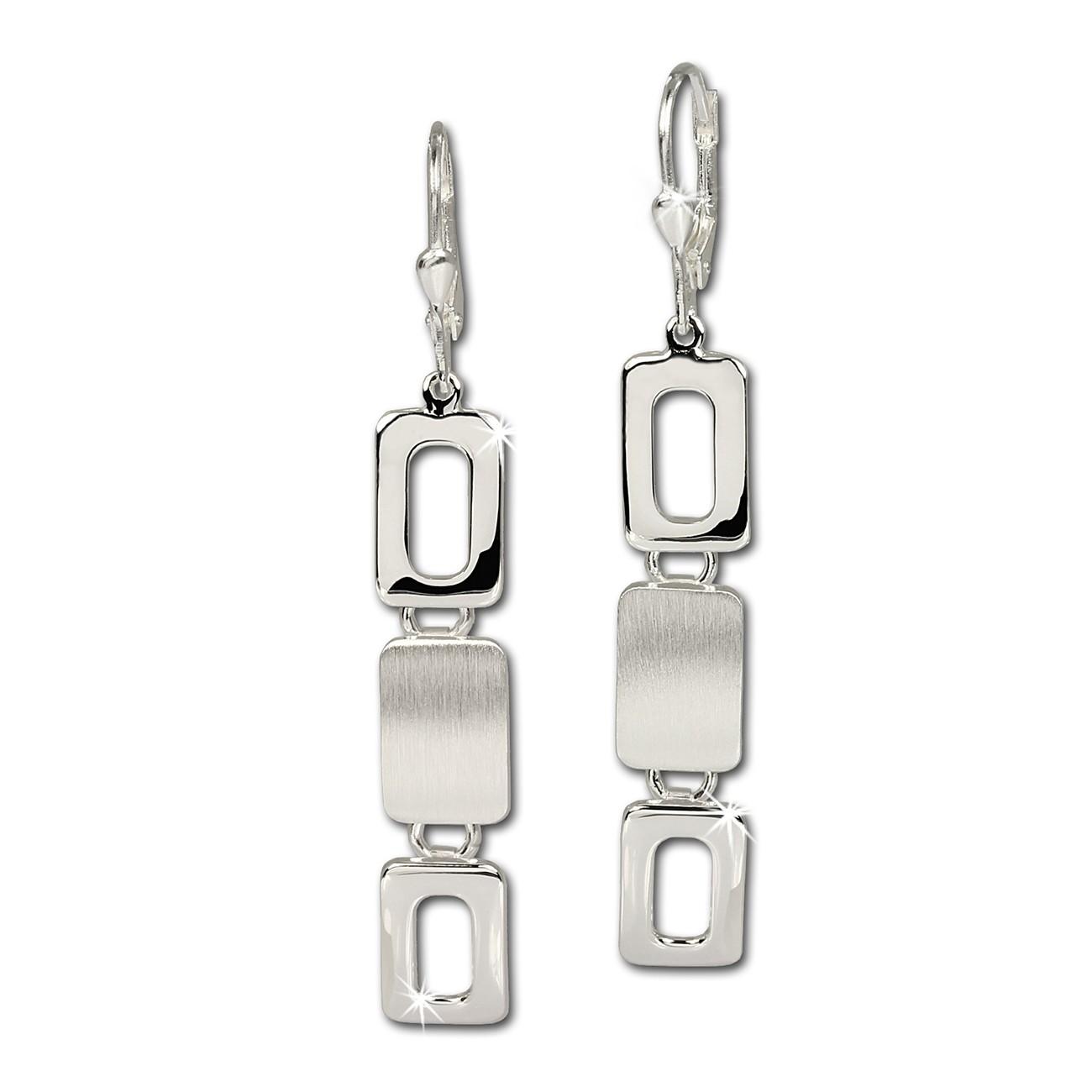 SilberDream Ohrhänger Square 925 Sterling Silber Ohrring SDO328
