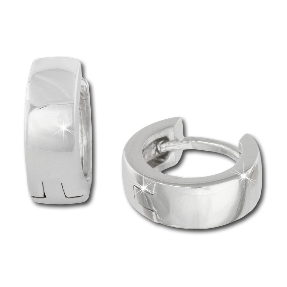 SilberDream Creole Glanz klein 12mm 925 Sterling Silber Ohrring SDO333S2