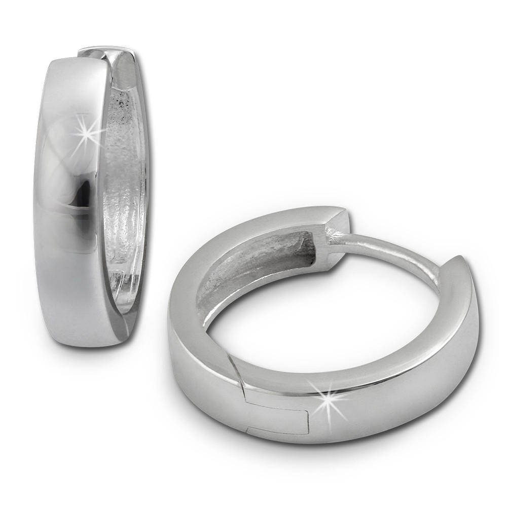 SilberDream Creole Glanz 15mm 925 Sterling Silber Ohrring SDO348S