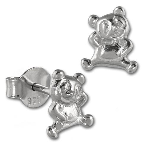 Teenie-Weenie Ohrstecker Teddybär 925er Silber Kinder Ohrringe SDO404