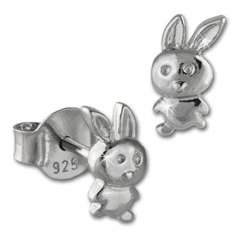 SilberDream Ohrstecker Häschen 925er Silber Kinder Ohrringe SDO408