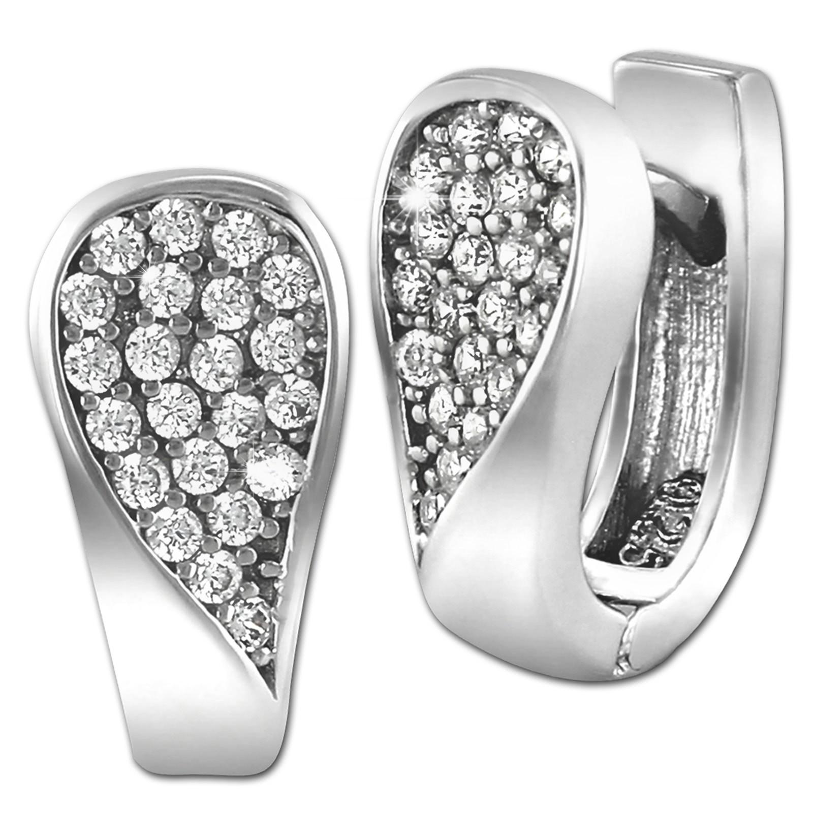 SilberDream Creole Glamour Zirkonia weiß 925 Sterling Silber Damen SDO4327W