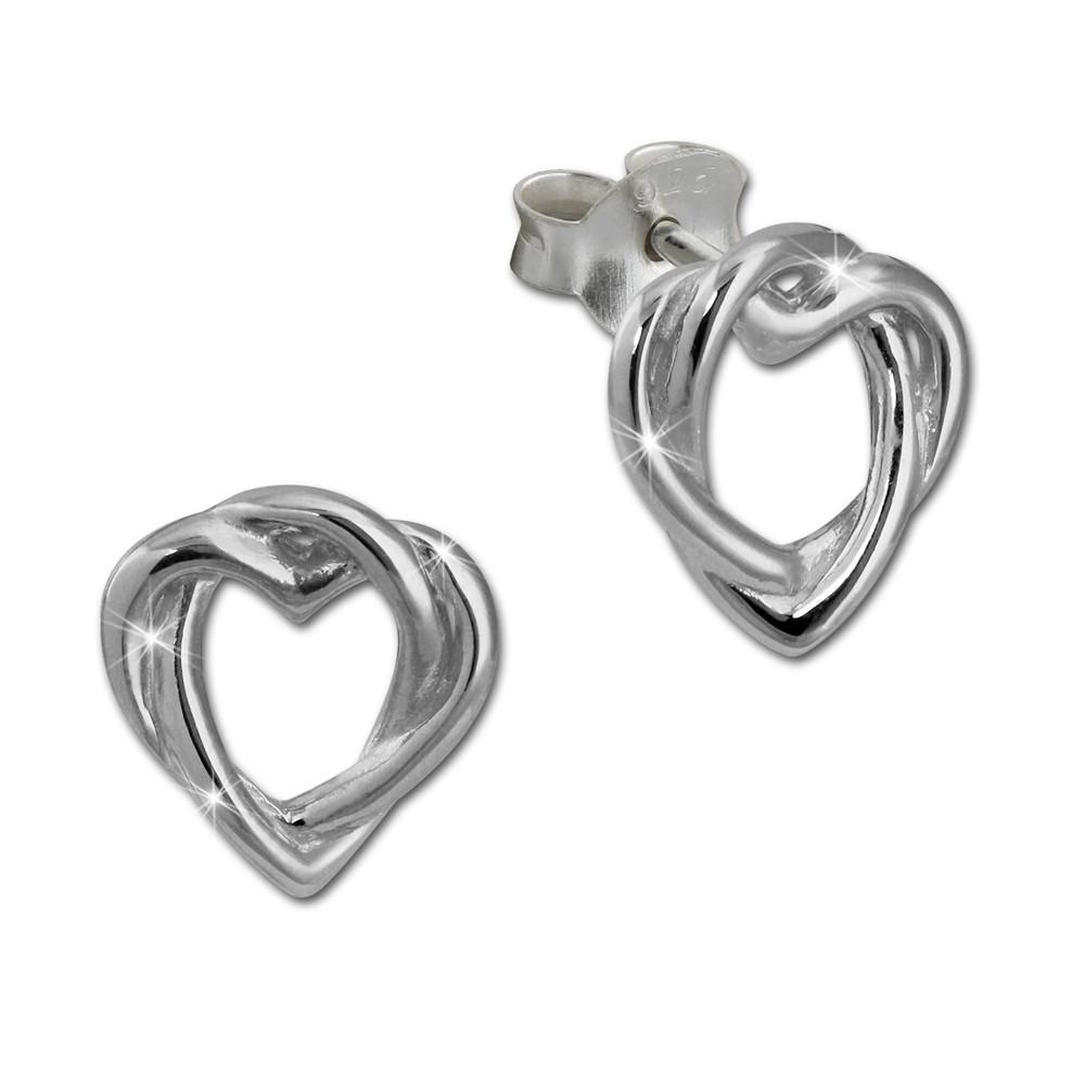 SilberDream Ohrstecker Herz unendlich 925er Silber Damen Ohrringe SDO452J