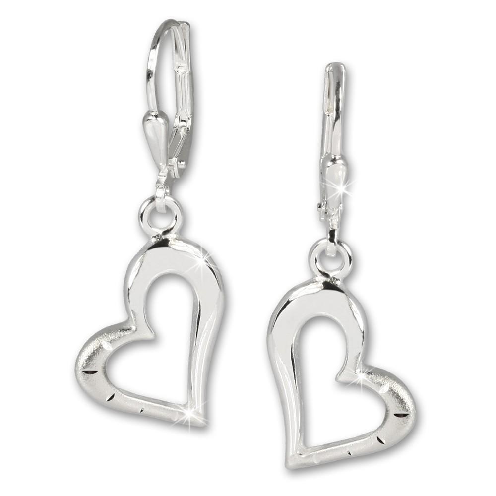 SilberDream Ohrhänger Herz Ohrring 925 Sterling Silber SDO504