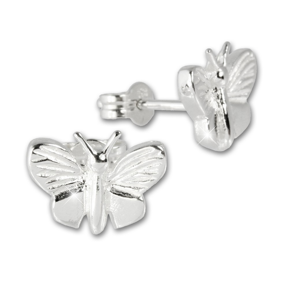 SilberDream Ohrringe Schmetterling 925 Silber Ohrstecker SDO510