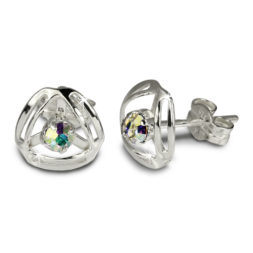 SilberDream Ohrringe Design Zirkonia kristall 925 Silber SDO528F