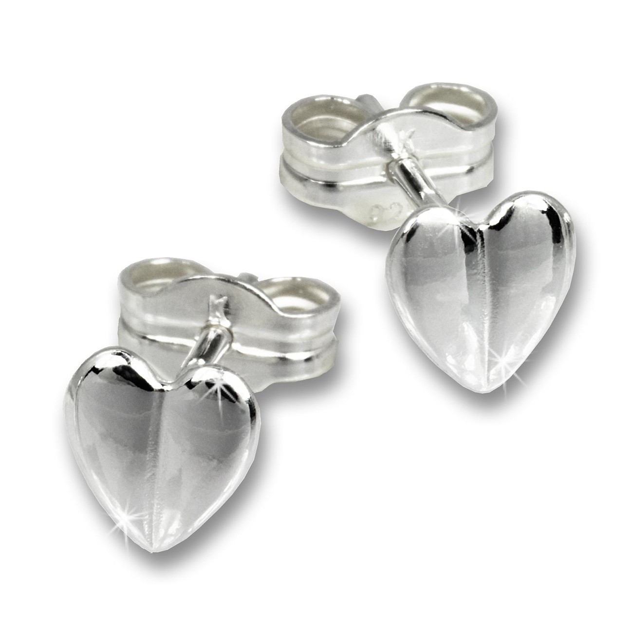 SilberDream Ohrringe Herzchen 925er Silber Ohrstecker SDO536