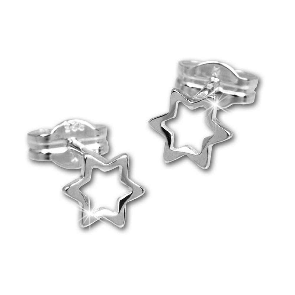 SilberDream Ohrringe Sternchen offen 925er Silber Ohrstecker SDO539