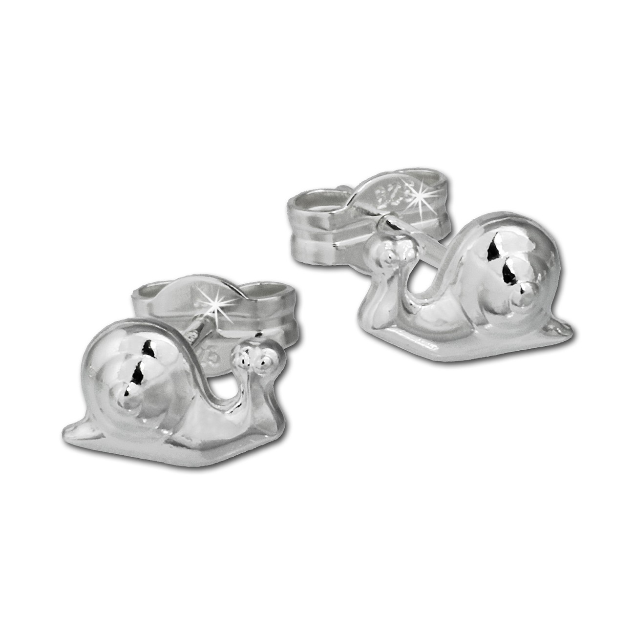 SilberDream Ohrringe Schnecke 925er Silber Ohrstecker SDO557