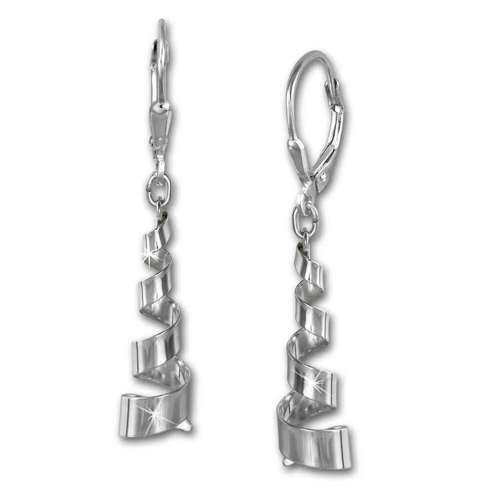 SilberDream Ohrhänger Spirale groß Ohrring 925 Sterling Silber SDO5643